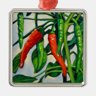 Chili Peppers Metal Ornament