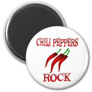 Chili Peppers Rock Magnet