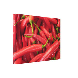 Chili Peppers Wrapped Canvas