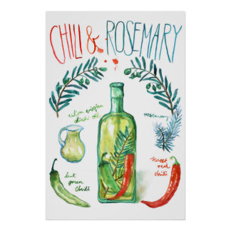Chili & Rosemary Recipe Poster