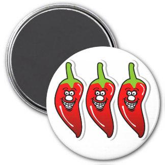 Chili Smile *3 Inch Round Magnet