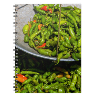 Chilis At Market For Sale Notebook