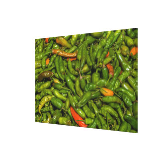 Chilis For Sale At Market Canvas Print