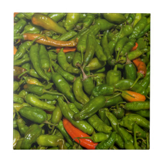 Chilis For Sale At Market Ceramic Tile