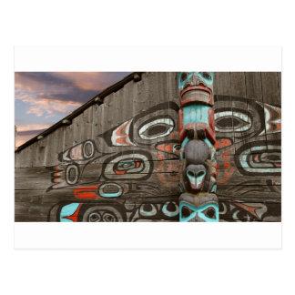 Chilkat Tribal House Postcard