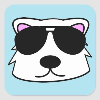 Chill Bear Square Sticker