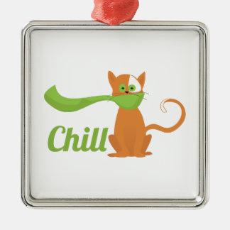 Chill Cat Christmas Tree Ornaments