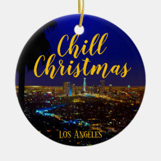 Chill Christmas Ceramic Ornament