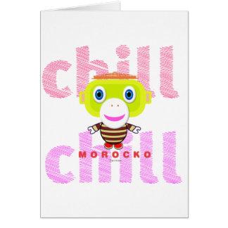 Chill-Cute Monkey-Morocko Card
