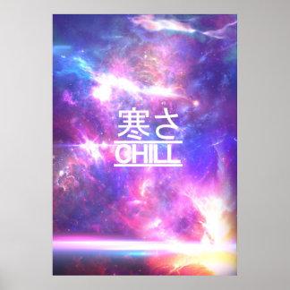 Chill Galaxy Nebula Stars Poster