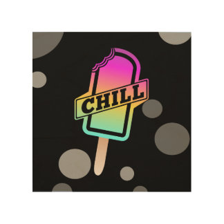 Chill Ice Lolly Wood Wall Art