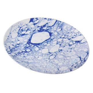 Chill Iceberg Dish-Washer Safe Plate