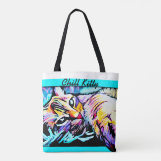 Chill Kitty Tote Bag