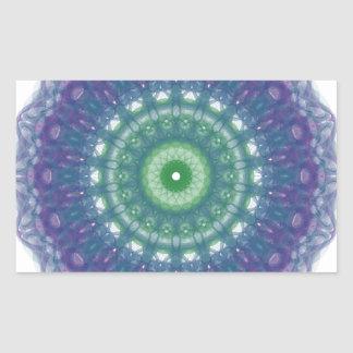 Chill Mandala Design Rectangular Sticker