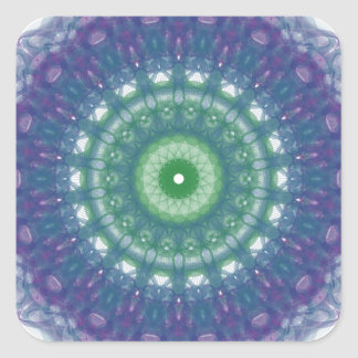 Chill Mandala Design Square Sticker