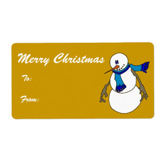 Chill - Merry Christmas Tags Shipping Label
