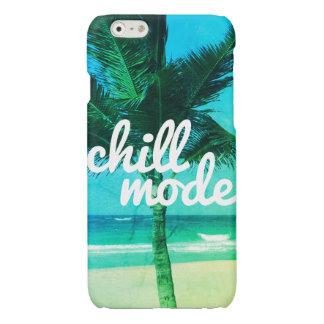 Chill Mode Blue & Green Beach Scene iPhone 6 Case