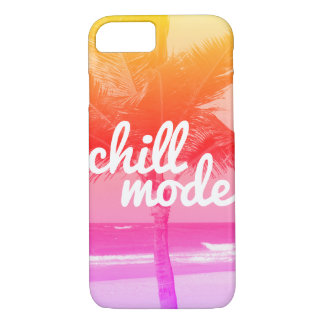 Chill Mode Pink Orange Beach Scene iPhone 8/7 Case