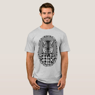 Chill Out Casual Checked Fox Dude T-Shirt