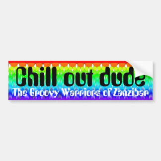 Chill out dude bumper sticker