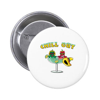 Chill Out Margarita Chili Peppers 6 Cm Round Badge