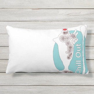 Chill Out - Original Paisley Ice Cream Sundae Cute Outdoor Cushion