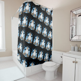Chill Out Penguin Shower Curtain