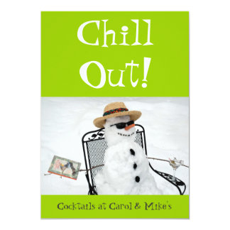 Chill Out: Winter Cocktail Party Card