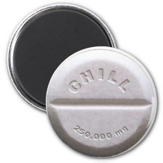 Chill Pill 6 Cm Round Magnet