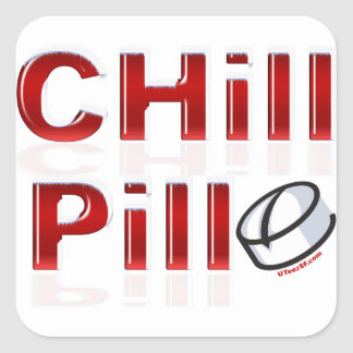 Chill Pill Funny PMS Square Sticker