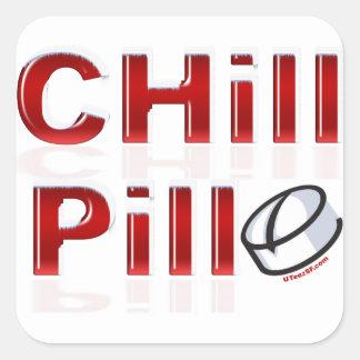 Chill Pill Funny PMS Square Sticker