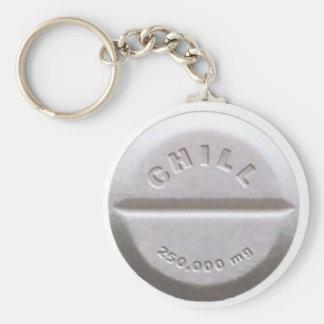 Chill Pill Key Ring