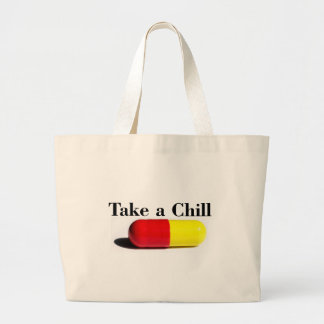 Chill Pill Large Tote Bag