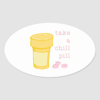Chill Pill Oval Sticker