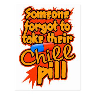 Chill Pill postcard