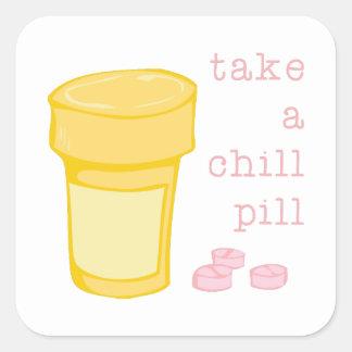 Chill Pill Square Sticker