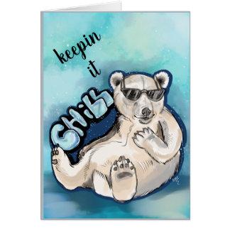 Chill Polar Bear Card