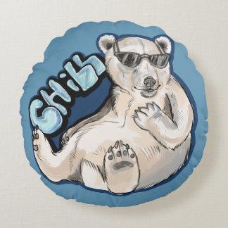 Chill Polar Bear Round Cushion