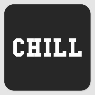 Chill Square Sticker