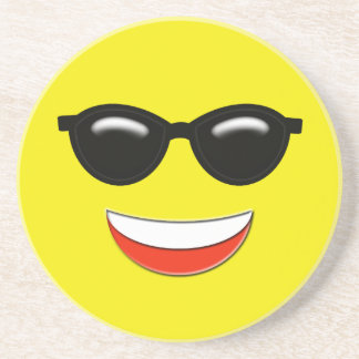 Chill Sunglasses Emoji Coaster