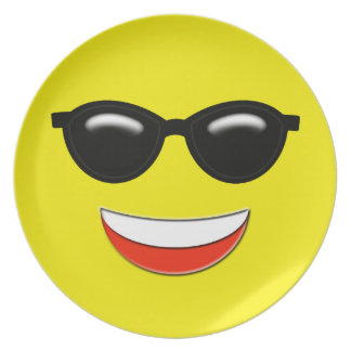 Chill Sunglasses Emoji Plate