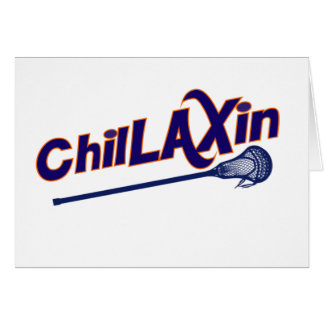 Chillaxin Lacrosse LAX Gifts Card