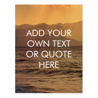 Chilled look - Add your own text or Quote - Custom Postcard