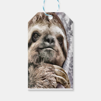 Chilled Sloth Gift Tags