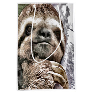 Chilled Sloth Medium Gift Bag