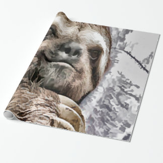 Chilled Sloth Wrapping Paper