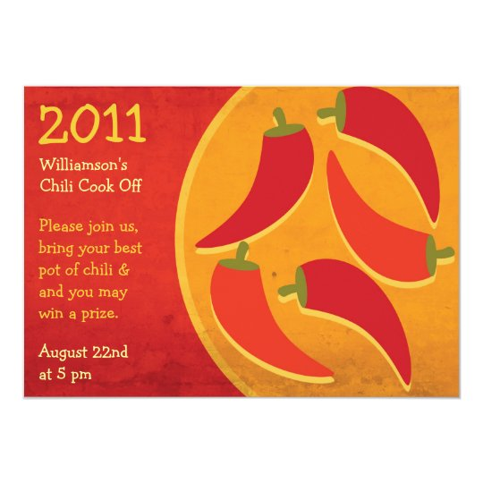 Chilli Cook Off Invitation