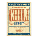 Chilli Cook Off Invitations