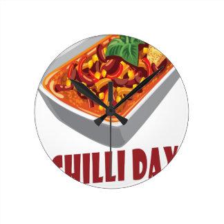 Chilli Day - Appreciation Day Round Clock