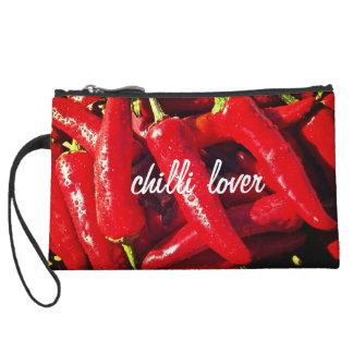 Chilli Lover, Red Chilli, Hot design Wristlet